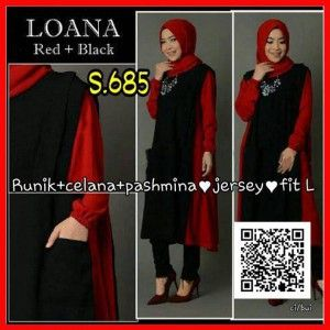 Jual Baju Gamis Muslim Modern Murah s685