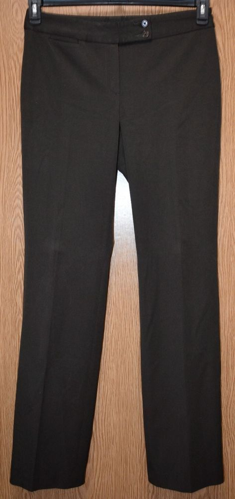 837b2eb2b13 Womens Dark Brown Talbots Signature Flat Front Dress Pants Size 8 Long  excellent  fashion  clothing  shoes  accessories  womensclothing  pants  (ebay link)