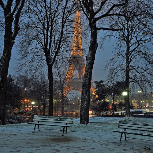 Winter in ParisWinter Snow, Happy Birthday, Eiffel Towers, Paris France, Christmas, Travel, Places, Shabby Vintage, Antiques