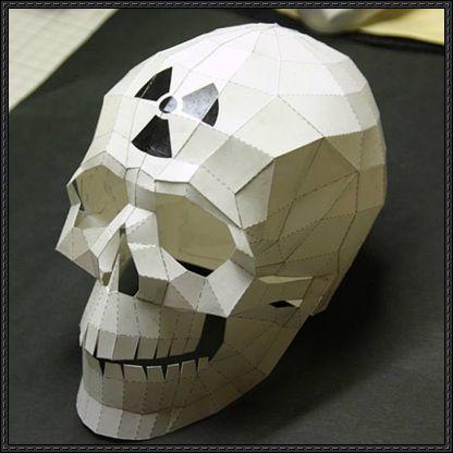 Halloween - Nuke Skull Free Papercraft Download - http://www.papercraftsquare.com/halloween-nuke-skull-free-papercraft-download.html