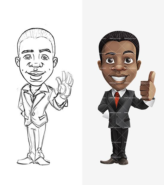 African American Cartoon Character - http://tooncharacters.com/male-cartoon-characters/african-american-cartoon-character/