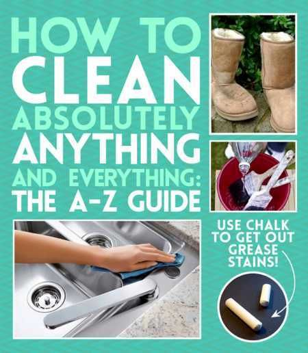 A giant list of how to clean everything (in one page)
