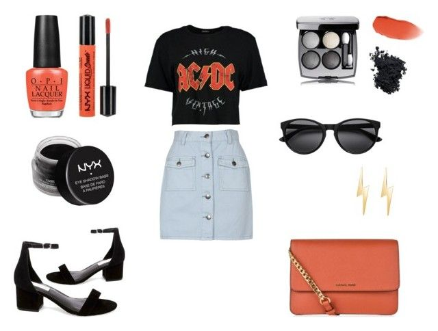 """""""ACDC sumer"""" by katyvalentine on Polyvore featuring MINKPINK, Steve Madden, MICHAEL Michael Kors, OPI, NYX, Chanel, Christian Dior and Talia Naomi"""