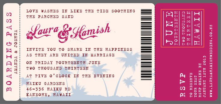 Laura & Hamish's Invite - www.chicdesign.co.nz