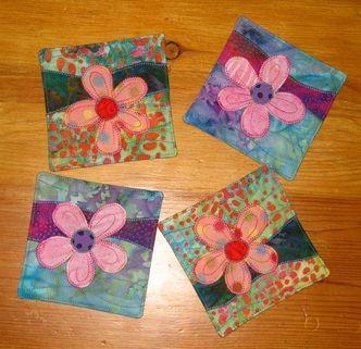 Spring flowers coaster pattern