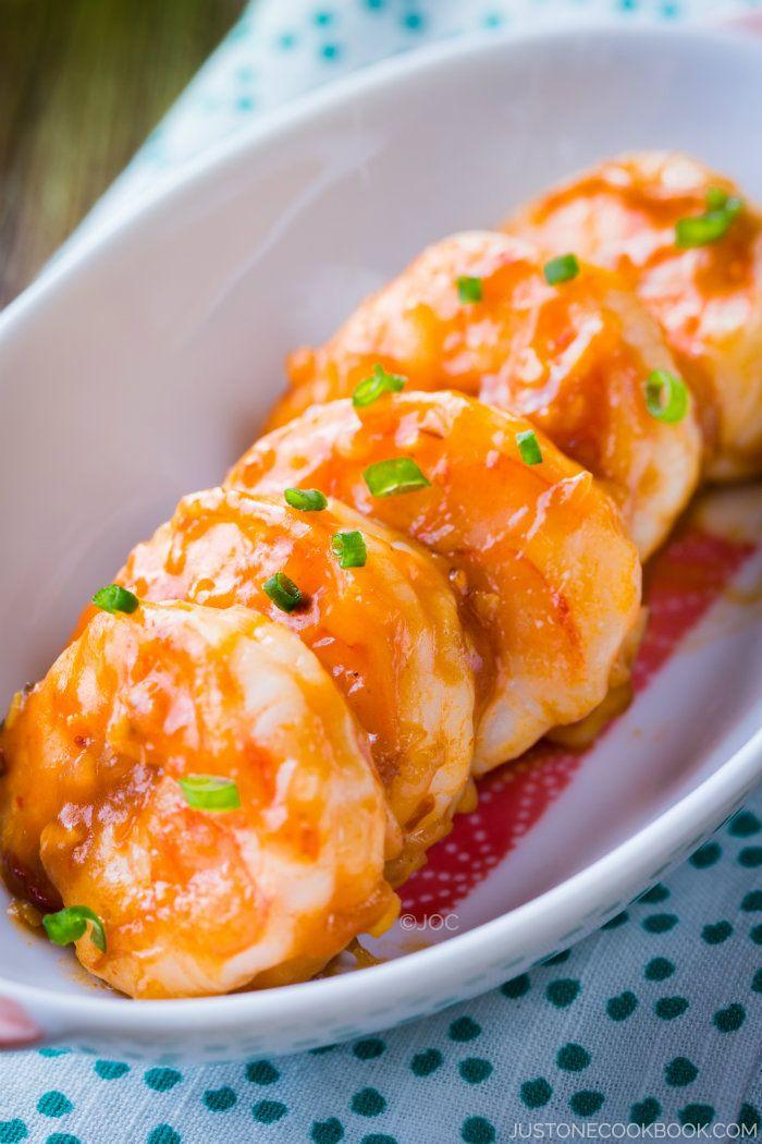 [JAPAN] Ebi Chili (Shrimp with Chili Sauce) | Easy Japanese Recipes at JustOneCookbook.com