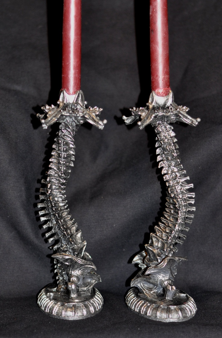 Helix Spine Candlestick holders