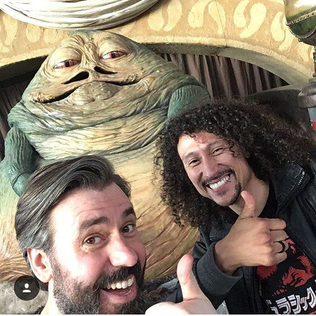 We wish you a merry morning and happy weekend straight from Jabba's Palace a.k.a. Comic Con Stuttgart. Come see us if you're around booth 3C30.  #comicconstuttgart #jabbathehutt #starwars #geeks