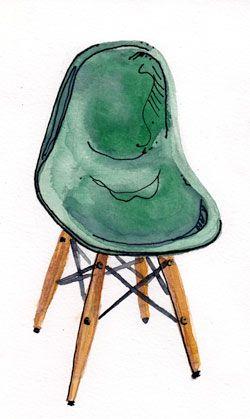 Plastic Dowel Leg Side Chair