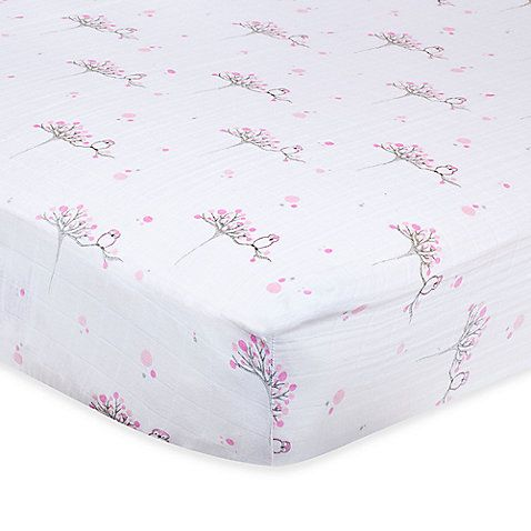 aden™ by aden + anais® Muslin Crib Sheet in For the Birds Owl  (on Buy Buy Baby Registry... any color on list... the solid colors are cheaper ;-) )