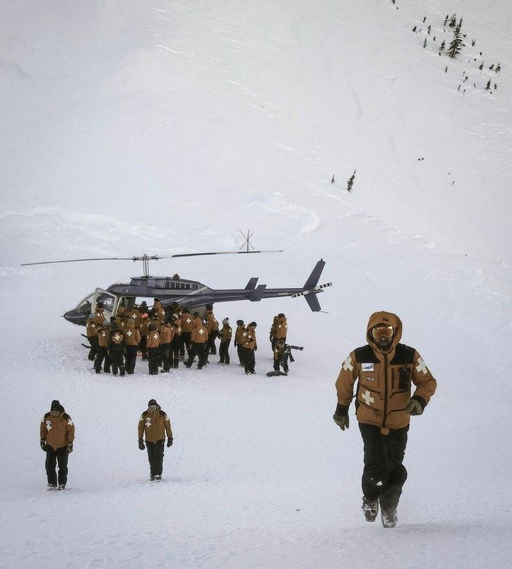 Ski Patrol and their helicopter