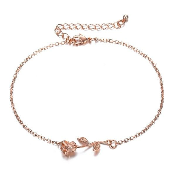 Women Silver Bracelet,Rose Plated,Made in Turkey,Gift for Her