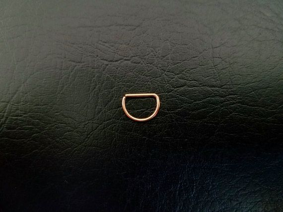 """Tiny 14k Rose Gold filled 20g Seamless 5/16"""" small D Ring Hoop septum ring body jewelry ear rook smiley helix"""