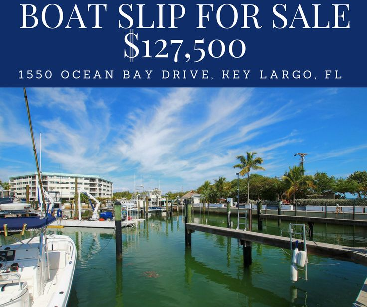 FOR SALE | $127,500 | 1550 Ocean Bay Drive Slip 27 | Key Largo            Own this amazing 38 ft Boat Slip in one of Key Largo's Best Marin...
