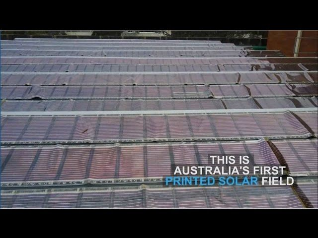 UON's professor Paul Dastoor has invented clever solar paints and inks that when sandwiched between two thin sheets of plastic, generate electricity from the sun. These amazing solar sheets are printed on simple conventional printers.   #Paul Dastoor #solar paints