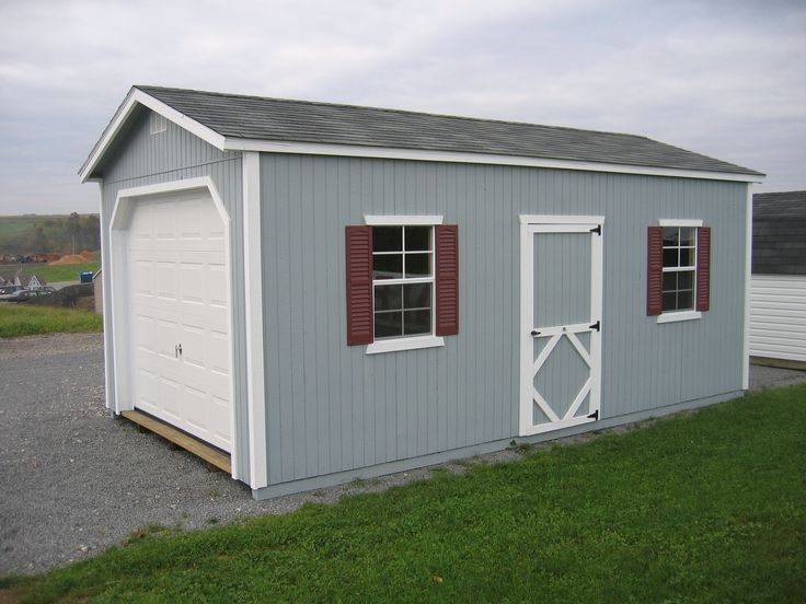 Little Cottage Company Classic Storage Sheds - Classic Wood Garage Precut Kit, Price: $2,710.00
