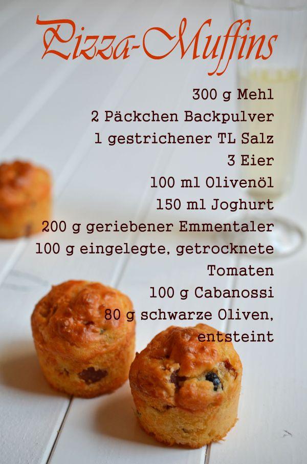 Rezept für Pizza-Muffins - perfekt für einen Filmabend (Post aus meiner Küche)