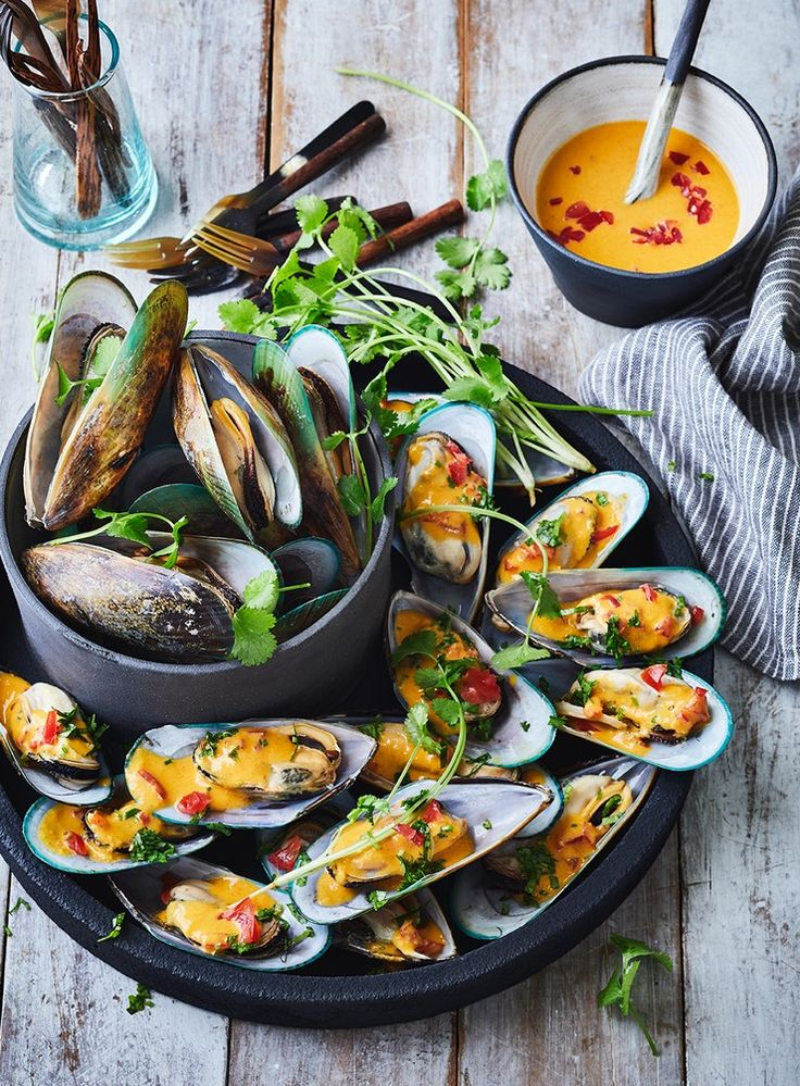 Steamed Mussels with Orange and Smoked Paprika Dressing
