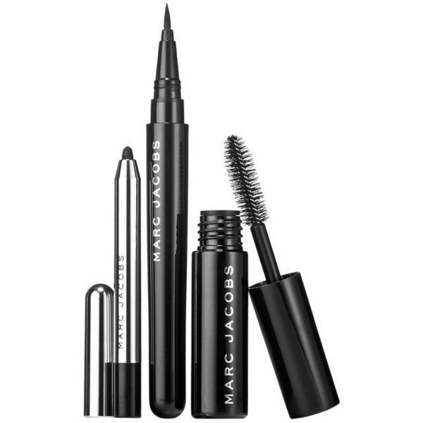 Blacquer Is Better Set ($32) ❤ liked on Polyvore featuring beauty products, makeup, eye makeup, beauty, cosmetics, eyes, fillers, water proof makeup, waterproof makeup and kohl makeup