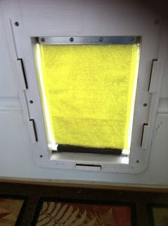 Do it yourself weatherproof dog door: Stop the Heat and Cold by upgrading your existing dog door.