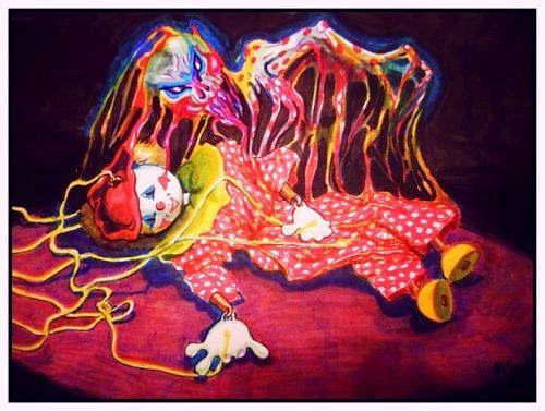 """"""" the soul leaving the toy """" - markers on paper"""
