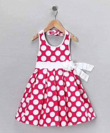 {Pink Polka Dot Halter Dress - Girls by Sweet Heart Rose}