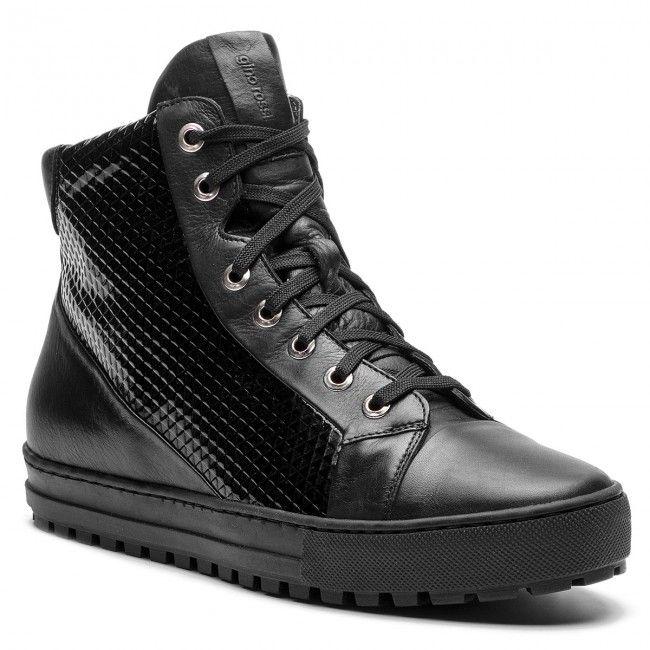 Sneakersy Gino Rossi Aversa Dth224 F46 0006 9999 F 99 99 All Black Sneakers Top Sneakers Black Sneaker