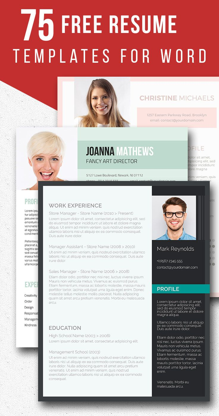 75 Free Resume Templates For Word | Freesumes.com #free #resume #templates