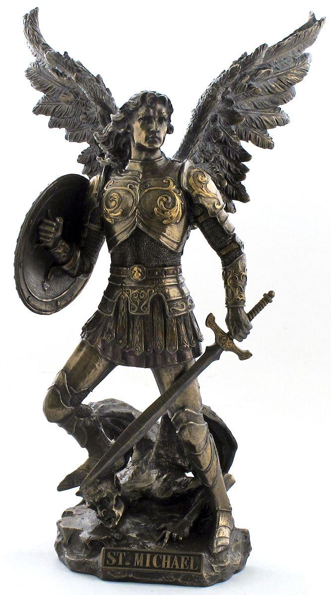 """São Miguel Arcanjo. Na carta de são Judas, lê-se: """"O arcanjo Miguel, quando enfrentou o diabo, disse: 'Que o Senhor o condene'"""". Por isso Miguel arcanjo é representado nas artes vestindo armadura e atacando o dragão infernal."""