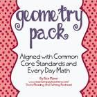 This pack is a  geometry pack aligned to the 2nd grade common core and Everyday Mathematics. Great for grades 1 and 2 also. It covers 2 and 3-D sha...