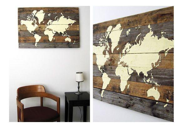 Haritalar her zaman evlerimizin duvarlarını süsleyen objeler olmuştur. Resim olarak, kilim olarak hatta duvar çizilerek bile evlerimize süs olmuştur. Bu sefer kendi haritanızı kendiniz çizec