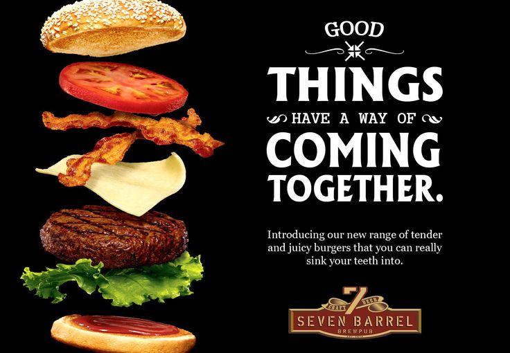 We heard you like burgers, so we put burgers in our menu. Try mind blowing juicy burgers at 7 Barrel Brew Pub... #juicyburgers #burgerandbeer #foodporn #goodthingsinlife