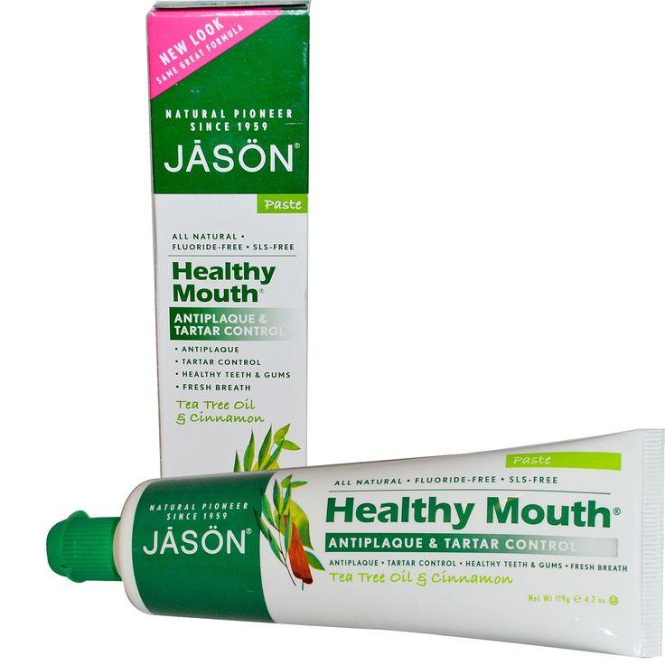 Jason Natural, Healthy Mouth, Antiplaque & Tartar Control Toothpaste, Tea Tree Oil & Cinnamon, 4.2 oz (119 g)