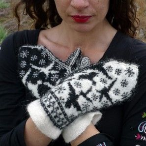 Beautiful and fun.: Cat Design, Handsker Cimdi, Eldiven Handsker, Knits Gloves Mittens Warm, Sunsets, Knits Patterns, Snow, Crochet Knits, Ravens
