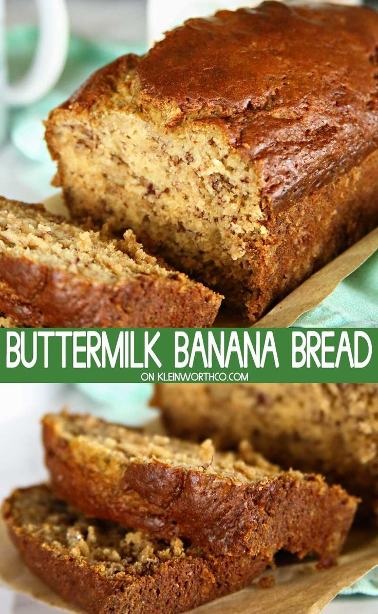 Buttermilk Banana Bread Is Made With Unsweetened Applesauce And Splenda Naturals Making It A Great Buttermilk Banana Bread Buttermilk Recipes Banana Nut Bread