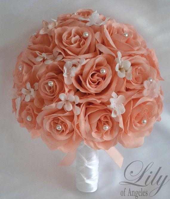 Ramos de novia boda 17 pieza paquete flores novia Bouquets