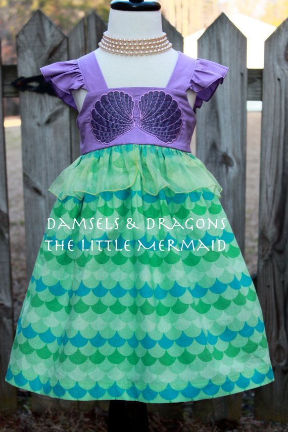 Ariel The Little Mermaid Inspired Dress by damselsndragons on Etsy
