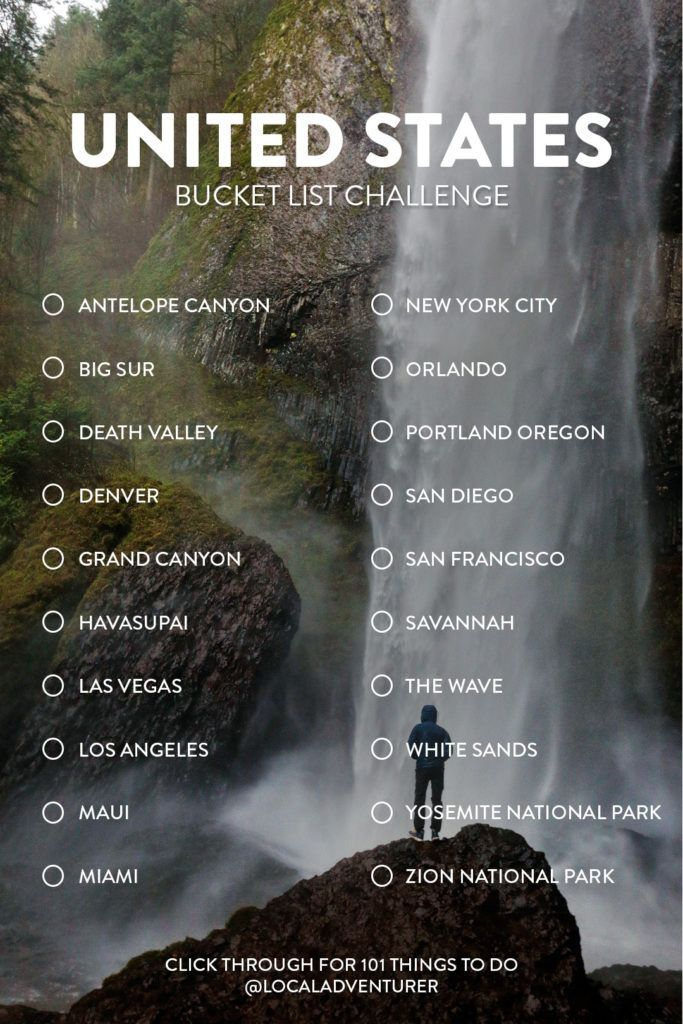 101 Locations to Go to in USA – Your Final USA Bucket Checklist