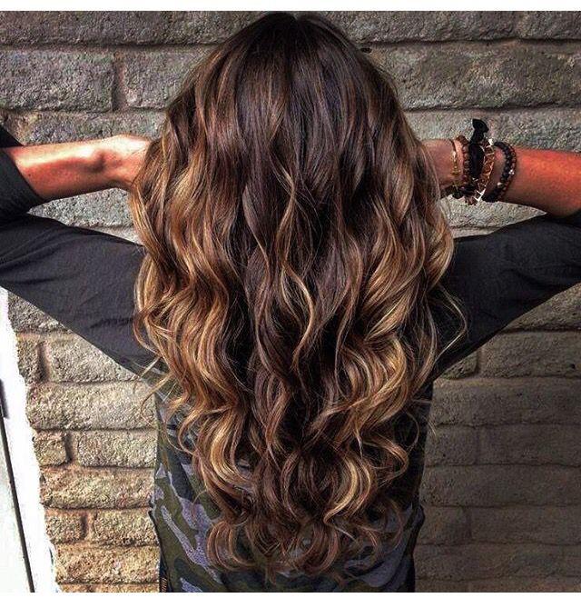 Castanho Iluminado Perfeito Cabelos Pinterest Curly