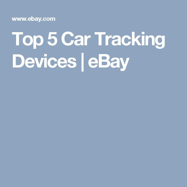 Top 5 Car Tracking Devices | eBay