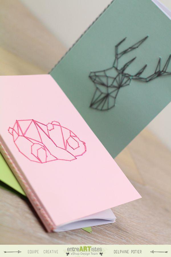 DIY : De petits carnets brodés - Scrapbooking & Loisirs créatifs - EntreARTistes 100% Scrapbooking !