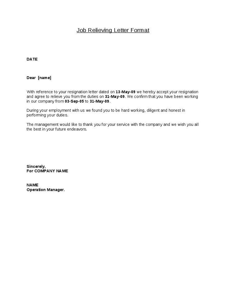 The 25+ best Resignation letter format ideas on Pinterest