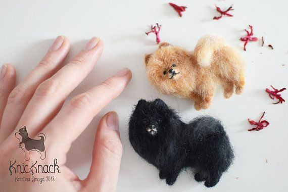 made to order Needle Felted Black Pomeranian