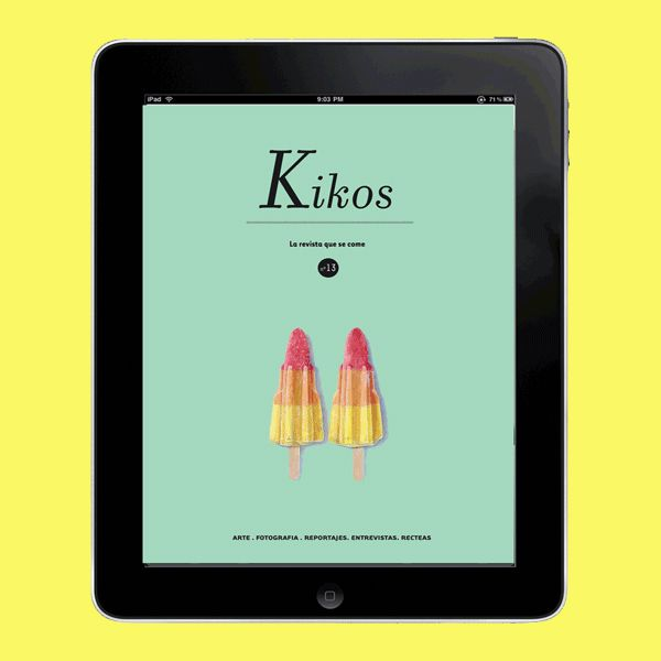 Kikos Magazine for iPad by Virginia Pol, via Behance