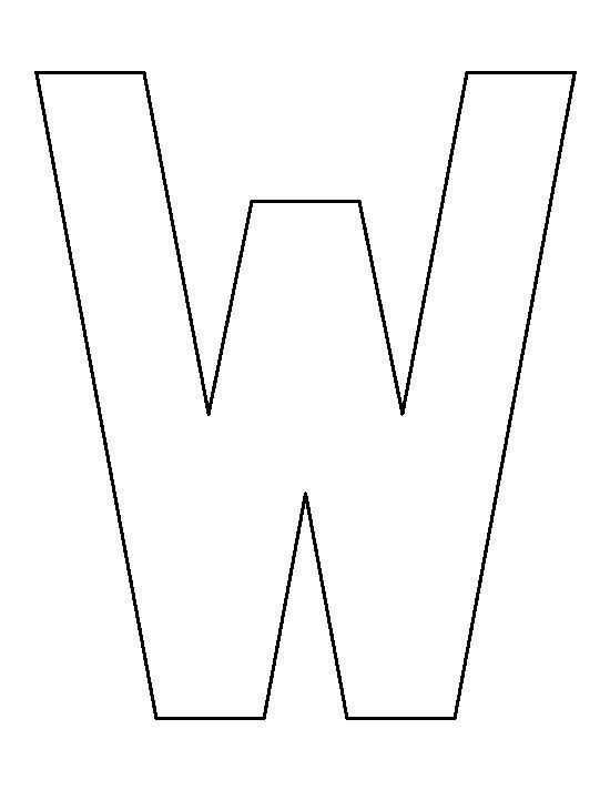 letter w pattern use the printable outline for crafts creating stencils scrapbooking and. Black Bedroom Furniture Sets. Home Design Ideas