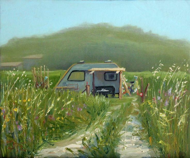 The best schilderijen images caravans at the