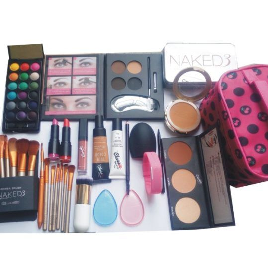 Top Nigerian Online Mall | Online Shopping | Buy Beauty Products, Electronics, Fashion, Phone Accessories, Computers & More in Nigeria Adorable Makeup Kit With Brushes, BrushCleaner, LED Watch And Free Bag | Top Nigerian Online Mall | Online Shopping | Bu