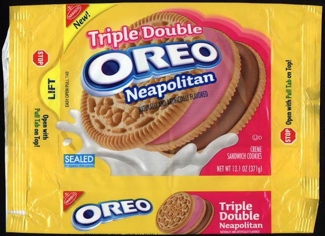 CC_Nabisco - Oreo Triple Double Neapolitan - NEW - cookie package - 2011