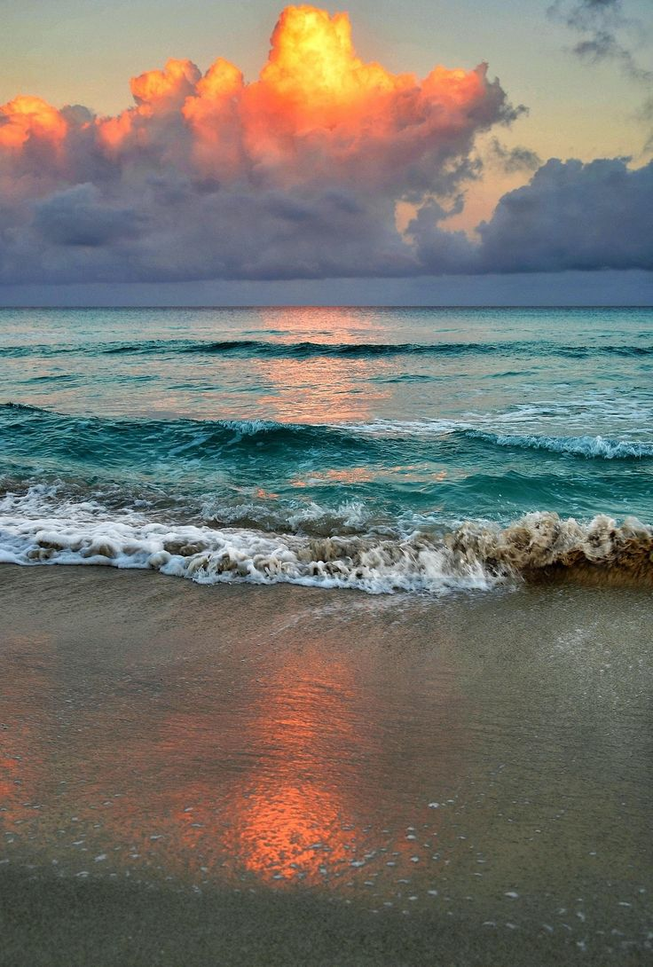 Dawn on varadero beach cuba