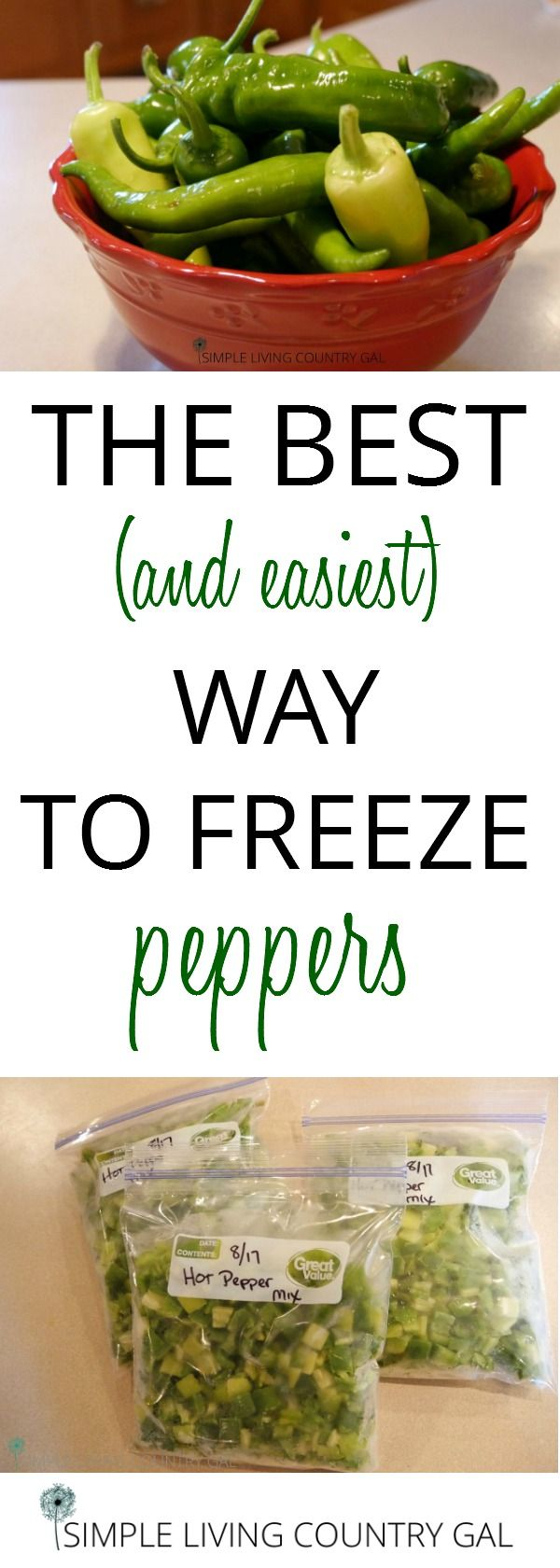 Follow these tips for a fool proof way to freeze your peppers. No more icy boulders. Now you can have fresh veggies in winter without freezer burn!